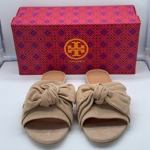 Tory Burch Annabelle bow slide flats size 10.5